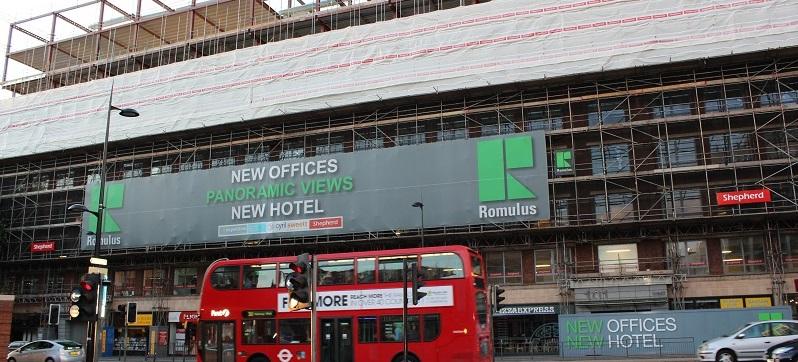 Major refurbishment project opposite the British Library